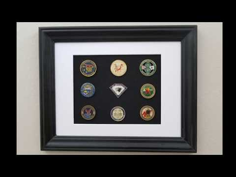 Military Coin Display