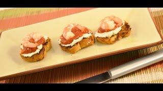 Shrimp Cocktail Crostini Recipe - How To Make Crostini And Homemade Shrimp Sauce   Radacutlery.com