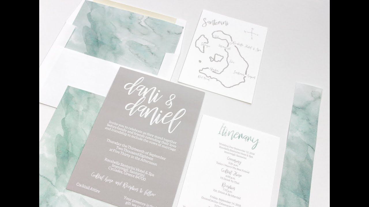 How To Assemble Wedding Invitations - Belly Bands, Envelope Liners ...