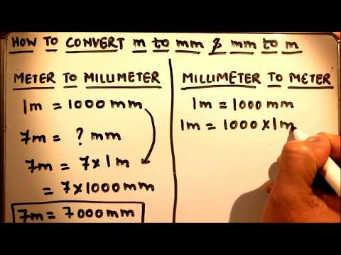 HOW TO CONVERT METER TO MILLIMETER AND MILLIMETER TO METER