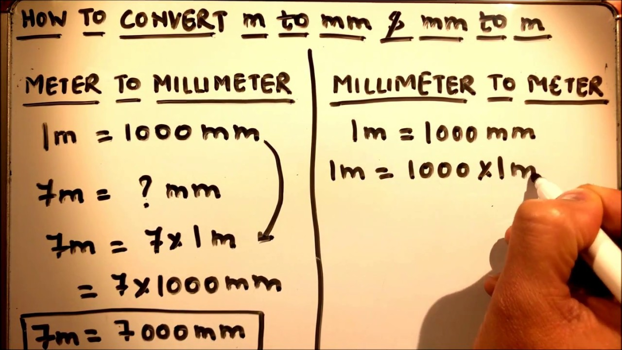 How To Convert Meter To Millimeter And Millimeter To Meter Youtube