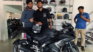 Yamaha R15 V3 Dark Knight Dual Channel ABS 1st Delivery in vapi | by ahmdavadi mitang