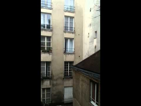 Courtyard view from rented  Parisian apartment