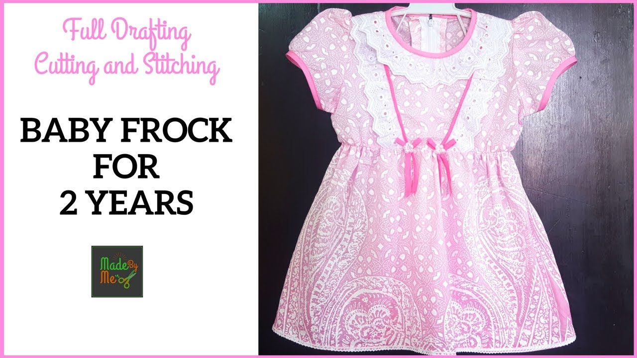 9ca85c484b 2 Years BABY FROCK DRAFTING Cutting and Stitching in Hindi/Urdu