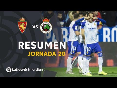 Resumen De Real Zaragoza Vs Real Racing Club (2-0)