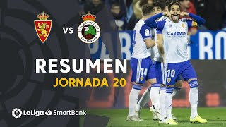 Resumen de Real Zaragoza vs Real Racing Club (2-0)
