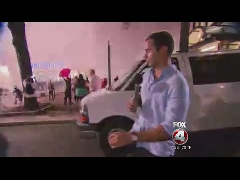 Reporter caught in the crossfire during Charlotte unrest