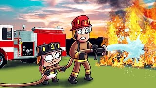 Minecraft | Who's Your Daddy? Baby is a Firefighter! (Baby Fireman vs Forest Fire)
