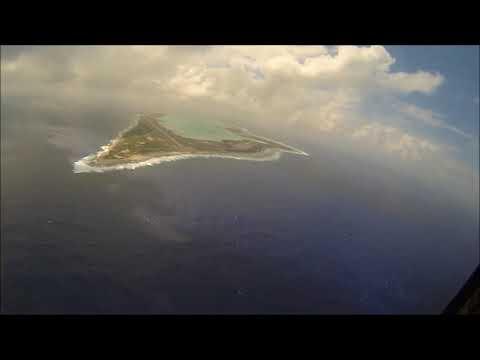 KC-10: Aerial Approach & Landing at Wake Island (Micronesia)