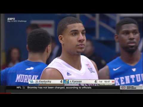 #4 Kansas vs #20 Kentucky 2016 [Basketball Full Game]