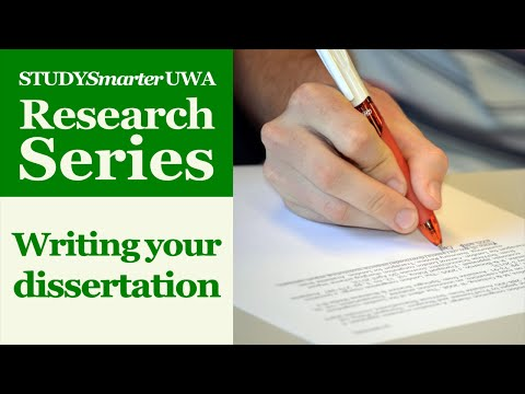 Writing your Honours or Masters dissertation at UWA