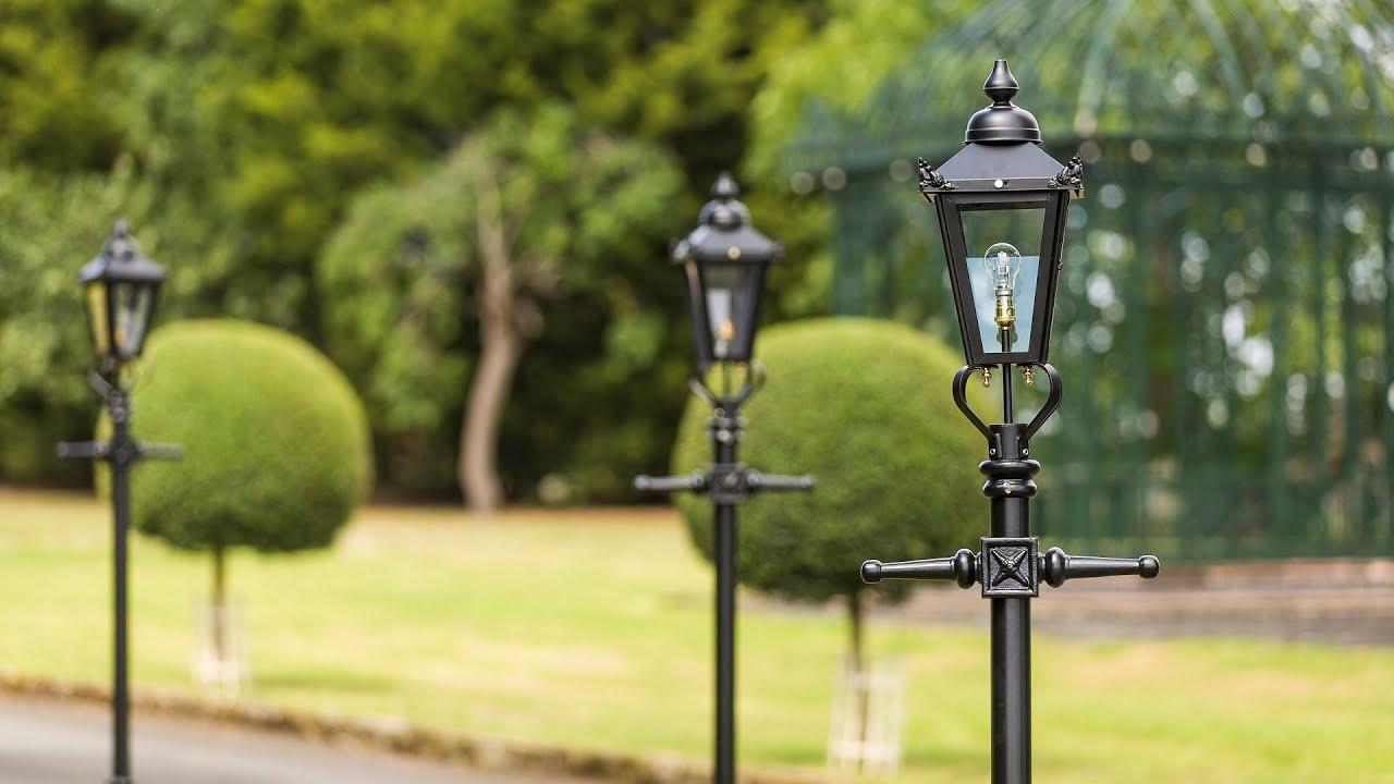 Victorian Lamp Posts Explained - Rochester 3.4metre - YouTube for Stone Lamp Post  584dqh