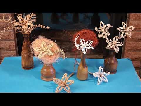 Цветы из бумажных трубочек своими руками