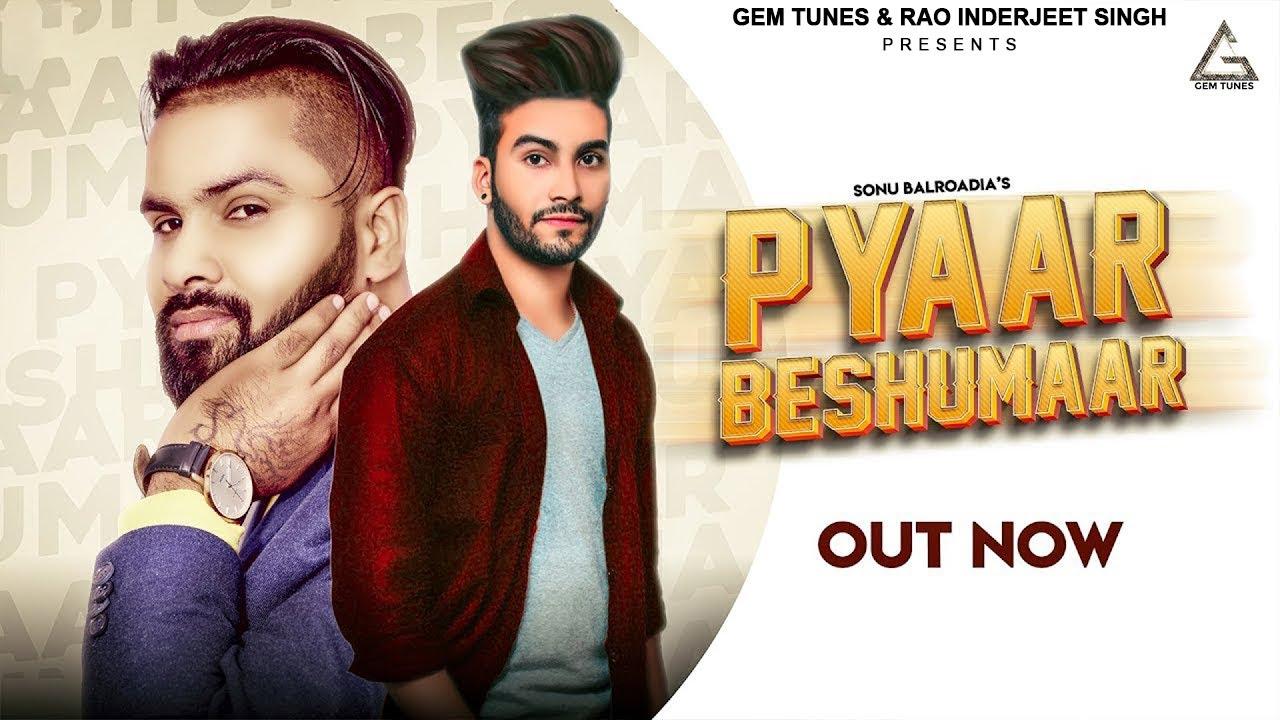 Pyaar Beshumaar : JANAAB G | Sonu Balroadia | Latest Haryanvi Songs 2020