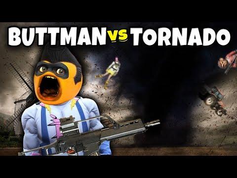 Adventures of Buttman #26: BUTTMAN vs TORNADO (Annoying Orange GTA V)