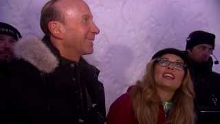 Frozen: Directors Jennifer Lee & Chris Buck Visit the Ice Hotel (Hotel de Glace)