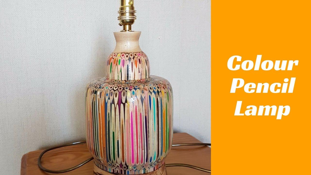 Colour pencil lamp - YouTube