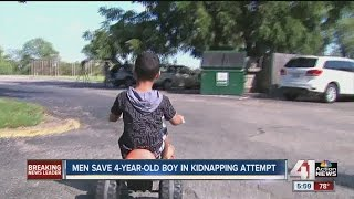 Two men save child after woman tried to kidnap him