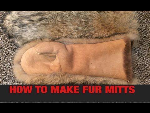 HOW TO MAKE FUR MITTS PART 1  YouTube
