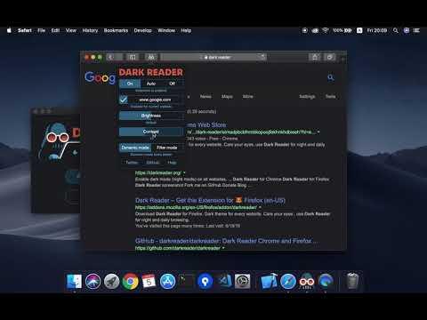 Safari dark mode — Dark Reader