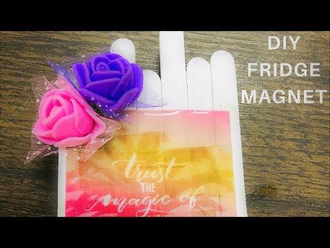 DIY Fridge Magnet #resin #resuse