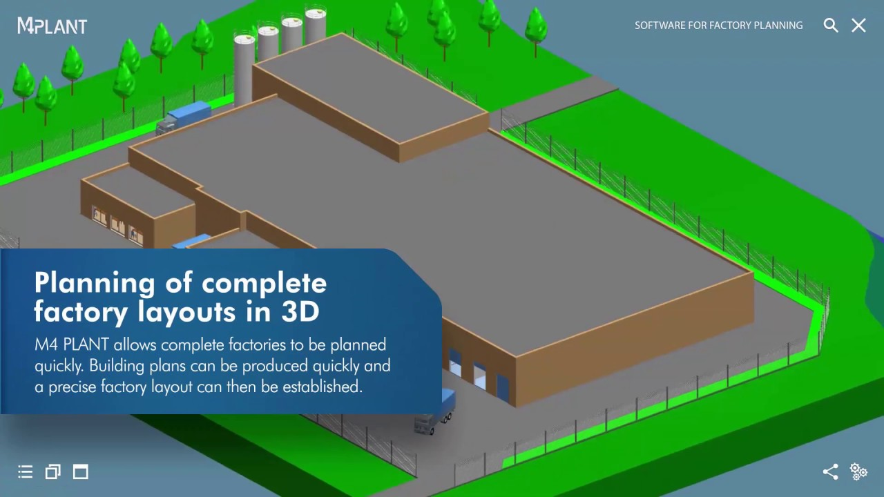 3d Factory Layout Software M4 Plant Youtube