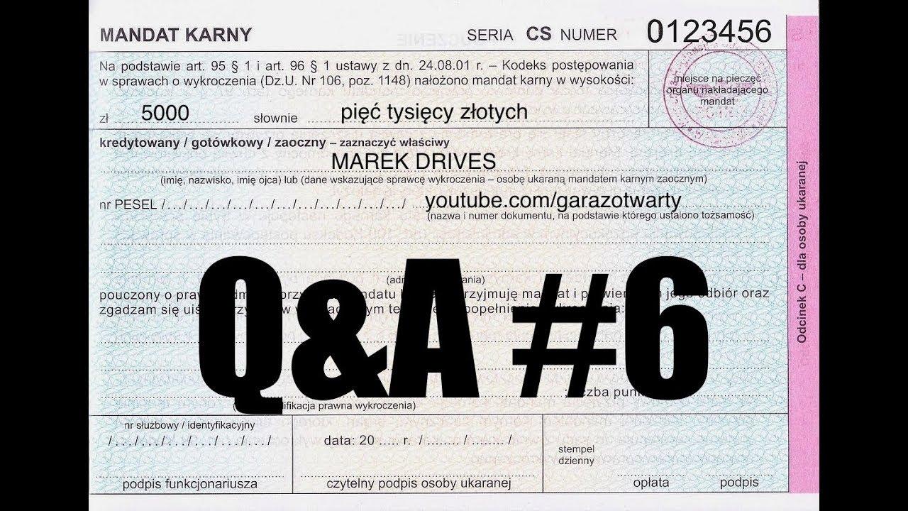 Q&A #6 (PL) – czy wysokie mandaty poprawią bezpieczeństwo?
