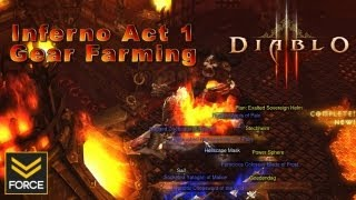 Diablo 3 - Act 1 Inferno Gear Farming: Warden & Butcher (Route Guide/Gameplay)