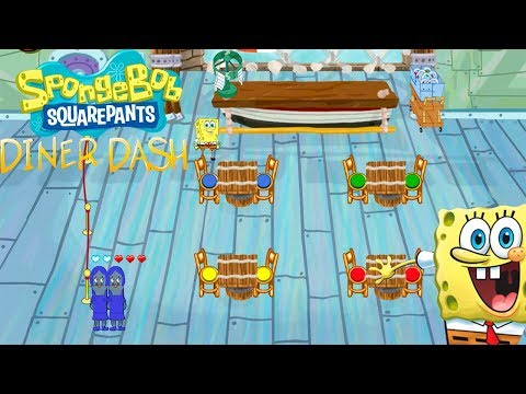 Game Review SpongeBob Diner Dash. Fun Game.