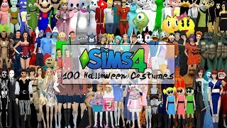 100 HALLOWEEN COSTUMES FOR THE SIMS 4
