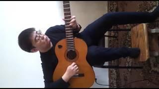 Мелодия веселая на гитаре позитиве