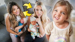 SWAPPING BABIES WITH SAVANNAH TO SEE IF THE TWINS NOTICE!