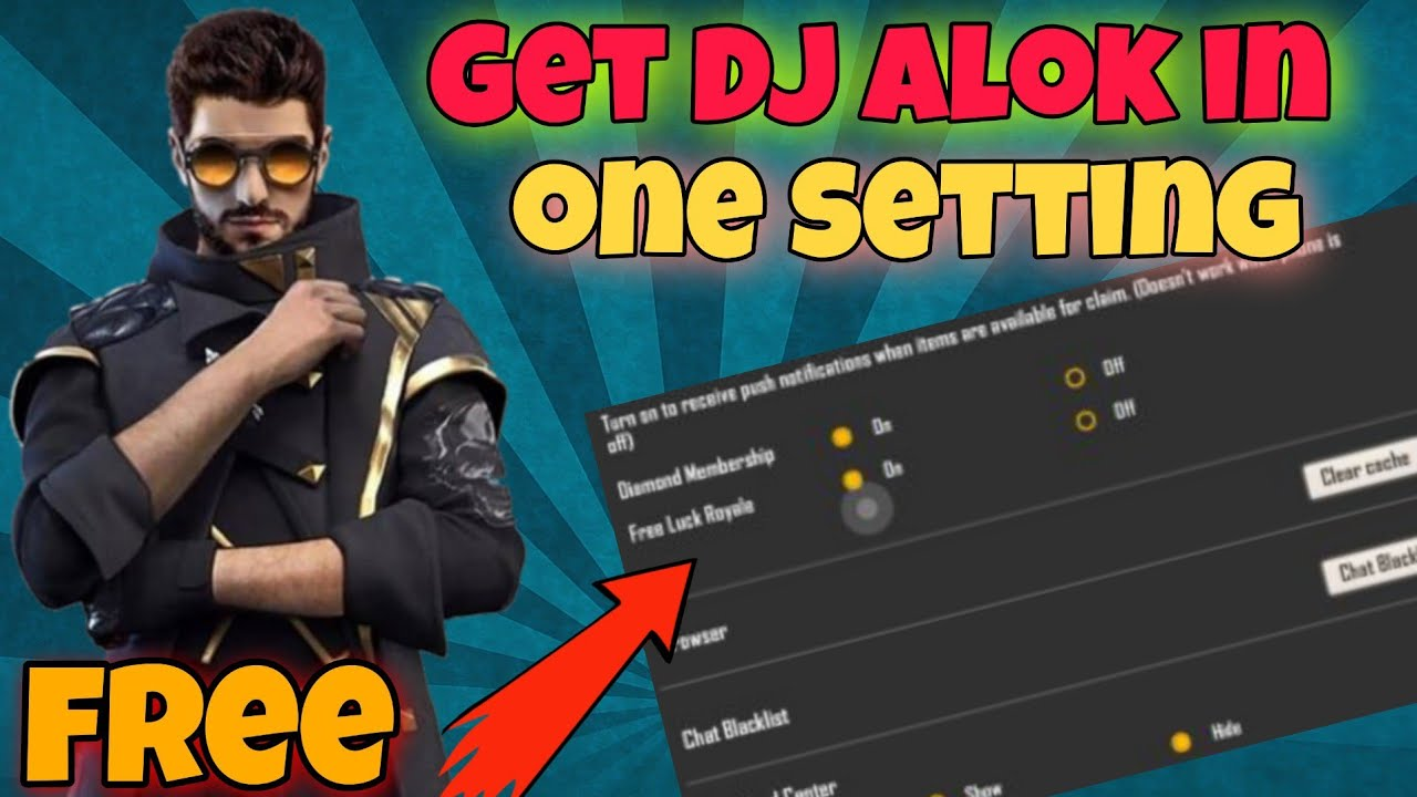 GET DJ ALOK  CHARACTER IN JUST ONE SETTING || 100% GUARANTEED || NO APP REQUIRED