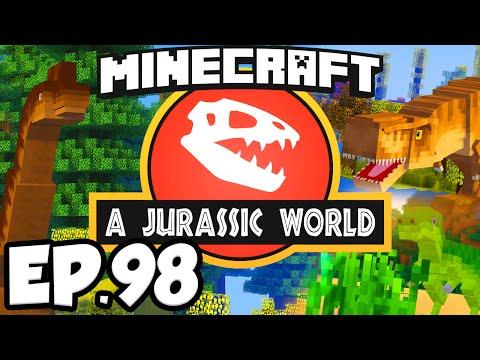 Jurassic World: Minecraft Modded Survival Ep.98 - DINOSAUR SKELETONS!!! (Dinosaurs Modpack)
