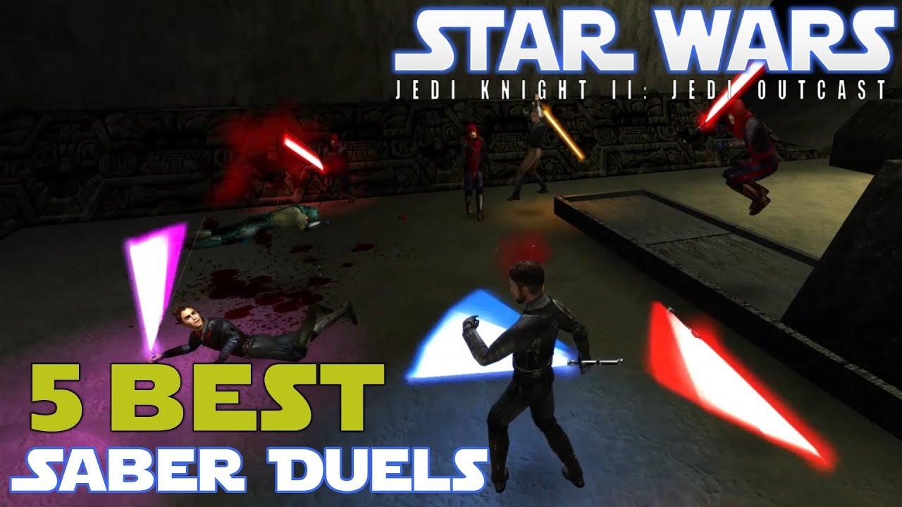 Top 5 Lightsaber Duels In Star Wars Jedi Knight II ! 💪