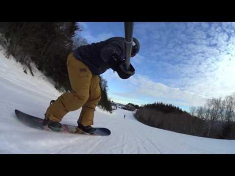 Snowboarding Sugarbush (Mt Ellen) 01/14/2017 1080p60FPS