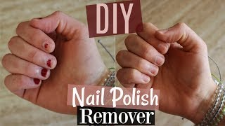 How To Make Nail Polish Remover | No Acetone, Completely Natural & Better For Your Nails