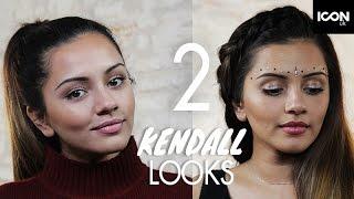 2 Kendall Jenner Makeup Looks | Kaushal Beauty (Everyday + Festival Glam) Best Bits