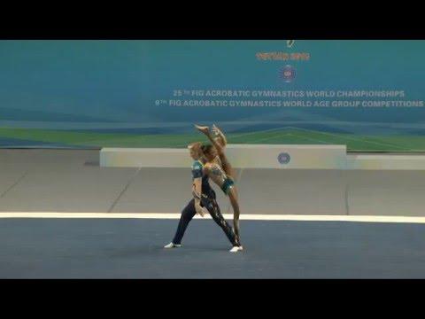 Tiffani Williams & Axel Osborne - Mixed Pair - 2016 World Acrobatic Championships - Final