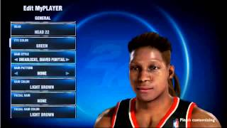 Playstation 4 - NBA 2K14 MyCAREER: New Hair styles and Hair style Patterns | PS4 Game play Footage
