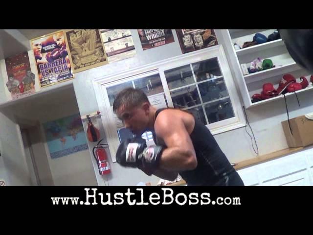 Gennady Golovkin blasting the heavy bag inside of the Summit Gym [Training highlights]