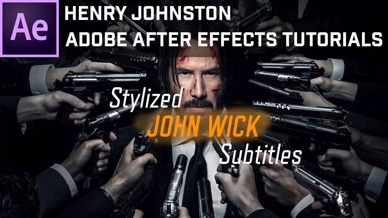john wick subtitles font