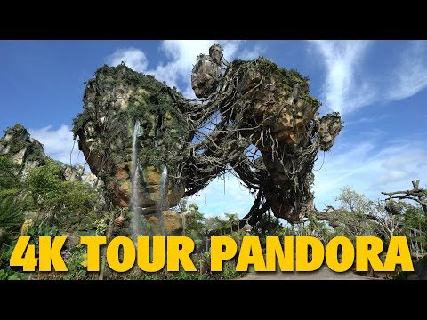4K Daytime Tour of Pandora - The World of AVATAR | Animal Kingdom