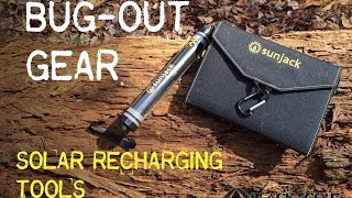 Bug-out Gear!! Sunjack Solar Energy Recharging Tools- Black Scout Reviews