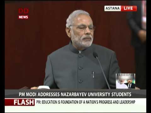 PM Narendra Modi addresses Nazarbayev University, Kazakhstan