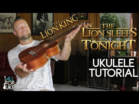 The Lion Sleeps Tonight - The Tokens (Ukulele Tutorial + Play Along) THE LION KING SOUNTRACK