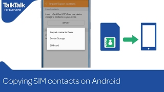Copying SIM contacts on Android