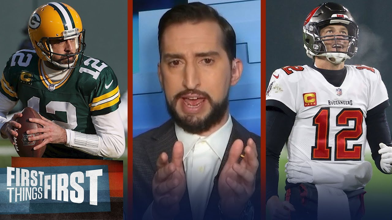 Bucs headed to Super Bowl; Brady achieved lead v Rodgers' Packers — Nick | NFL | FIRST THINGS FIRST