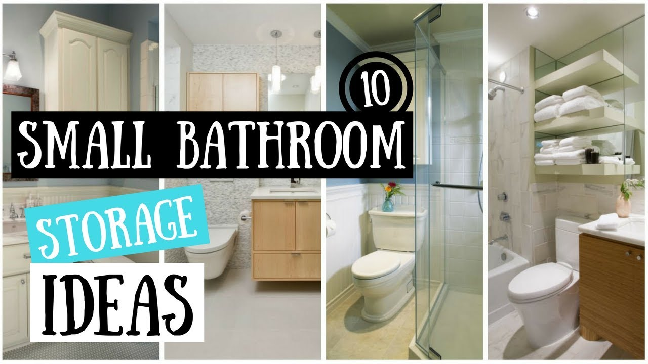 10 Small Bathroom Storage Ideas That Will Transform A Tiny Space Youtube