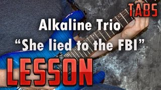 Alkaline Trio-She lied to the FBI-Guitar Lesson-Tutorial-Easy Power Chord Songs